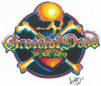 NEW Vintage Grateful Dead 1994 Skeleton Skateboarding Roses Window Sticker Decal