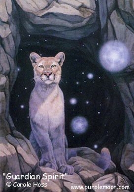 The Lion, one of my Spirit Guides - Card at purplemoon.com