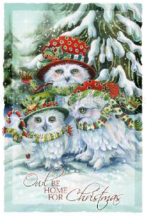 Fairy cards mermaid cards fantasy art greeting cards grateful 5x7 greeting card white envelope inside reads to those we love and see each day and other loved ones far awayrry christmas and happy new year m4hsunfo Choice Image