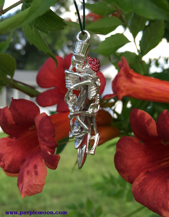 Grateful Dead Sterling Silver They Love Each Other Skeleton Pendant