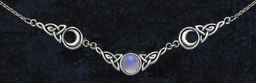 Sterling silver gemstone necklaces pendants fairy jewelry moon phases celtic knots aloadofball Image collections
