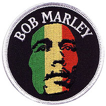 BOB MARLEY IRON ON//SEW ON WOVEN PATCH AFRICA JAMAICA RASTA LEGEND